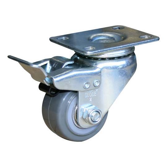 Swivel & Total Brake 50mm Urethane Castor - LRU50/P-TB