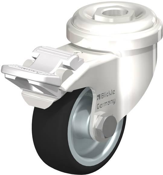 Swivel & Total Brake 50mm Rubber Castor - Stainless Steel - BSR50/SH-TB