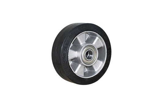 Elastic Rubber Wheel-Aluminium Centre  -150mm- MAB150