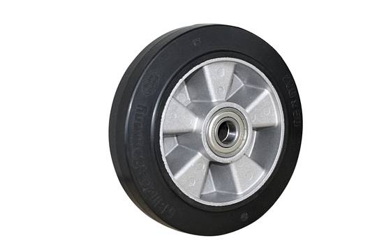 Elastic Rubber Wheel-Aluminium Centre  -200mm- MAB200