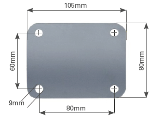 Weld-On Mounting Plate -105 x 80mm -MC-Plate