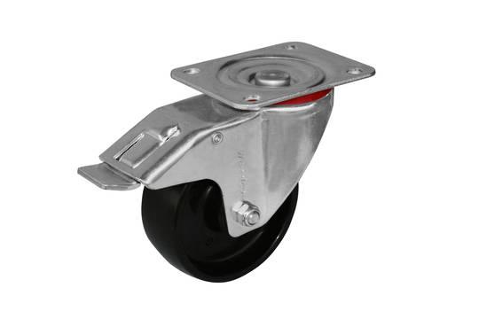 Swivel & Total Brake 100mm Nylon Castor - MCN100/P-TB