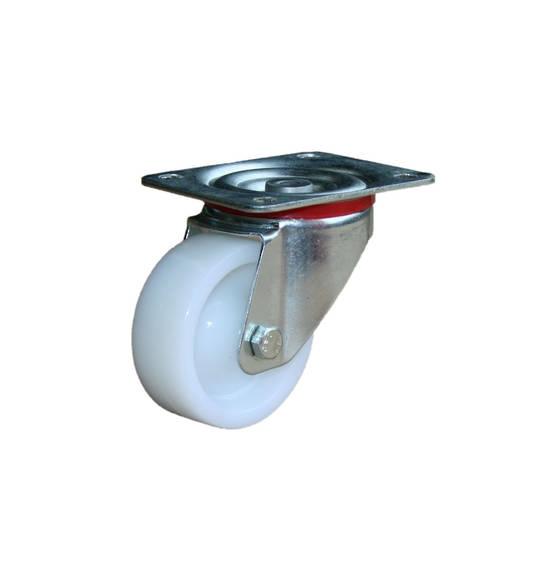 Medium Industrial Castors - Plate Fitting - 80mm Wheel