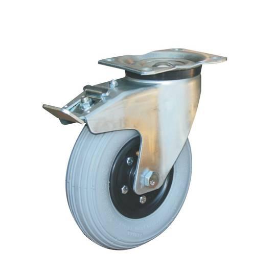 Swivel & Total Brake 200mm Pneumatic Castor - MHP200/P-TB