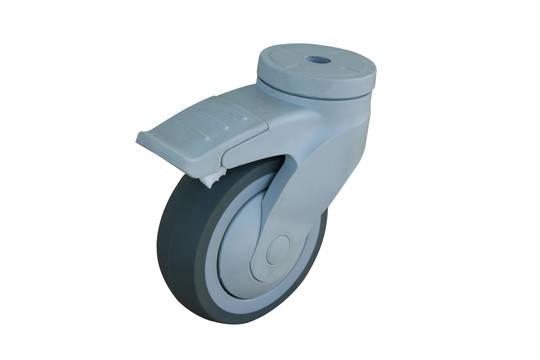 Swivel and total brake 100mm Reinforced Nylon Castor - MSR100/NH-TB