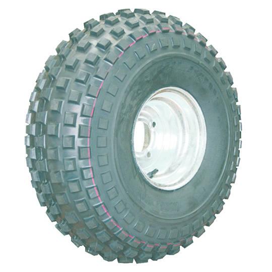 Pneumatic Wheel - Steel Rim - 22/11x8 Knobbly - MWY200-221K
