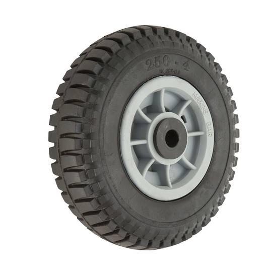 Solid Rubber Wheel 220mm - Plastic Rim - PSR2504