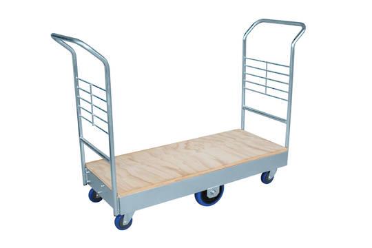 Heavy Duty Platform Trolley- Double Handle -Plywood Base-PTRD1200-Ply