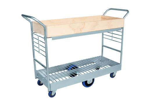 Heavy Duty Two Tier Platform Trolley -Plywood Tray -PTRD1200-Tray