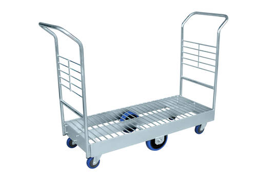 Heavy Duty Platform Trolley-Double Handle-Wire Mesh Base-PTRD1200