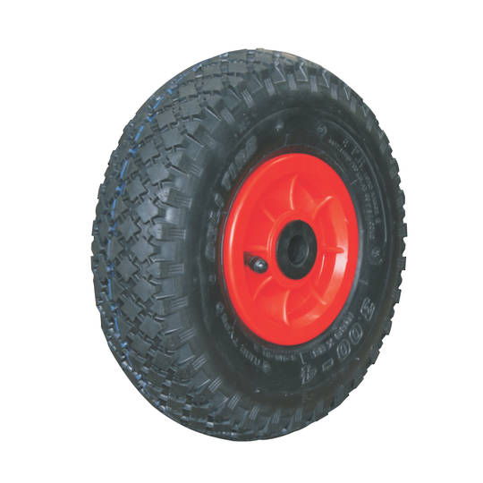 Pneumatic Wheel - Plastic Rim - 300x4 Diamond - PW100-300D