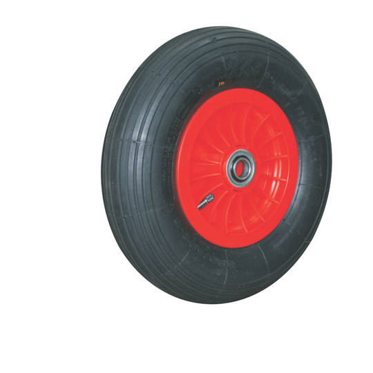 Pneumatic Wheels - Plastic Rim With Ball Bearings Centre