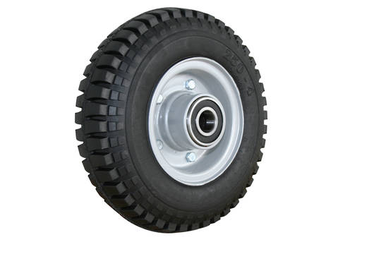 Solid Rubber Wheel 220mm - Steel Split Rim - RWSR2504