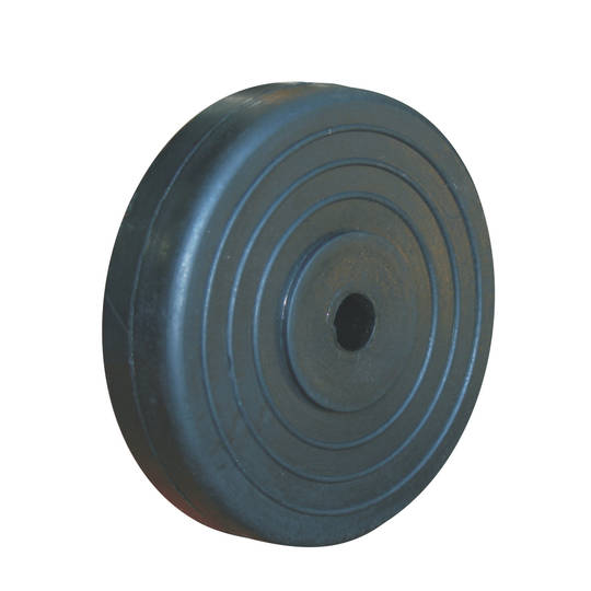 Black Rubber Wheel 150mm - SR150