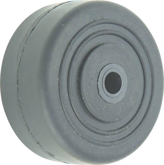 Black Rubber Wheel 50mm - SR50