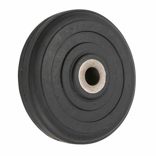 Black Rubber Wheel 150mm - Cast Iron Bush - SRC150