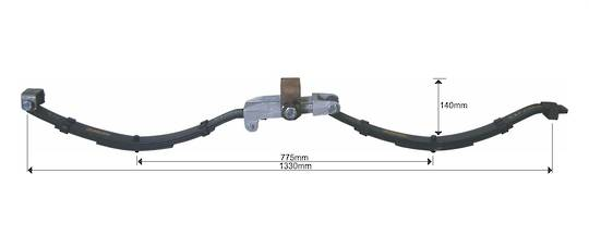 Tandem Axle Spring Set - Eye/Slipper - 2500kg - STE2500