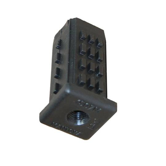 Threaded Tube Insert -Square  70mm long , suitable for castors- TI-SQ-25-M12