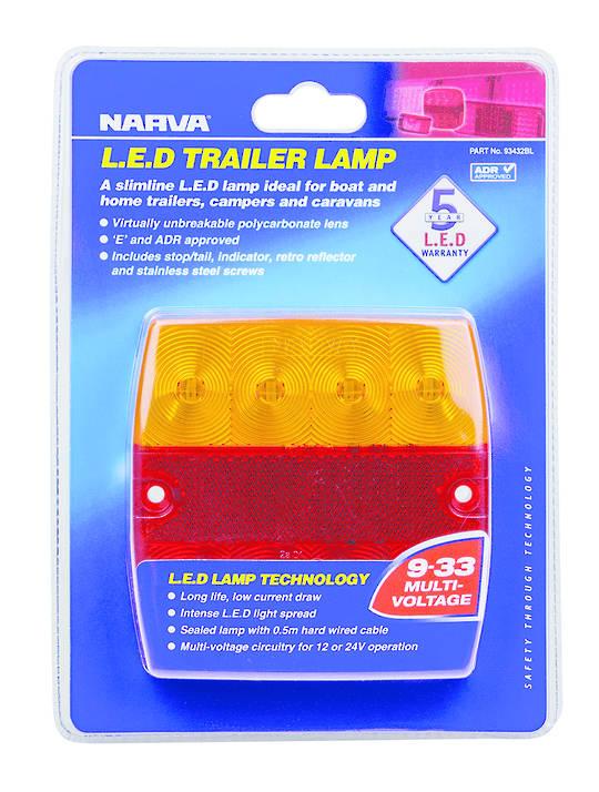L E D Trailer Light Stop/tail/indicator 9-33Volt