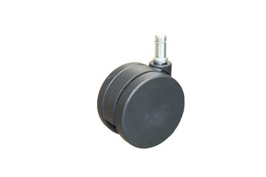 Twin Wheel Castor 75mm - Stem & Circlip - TW75-C11