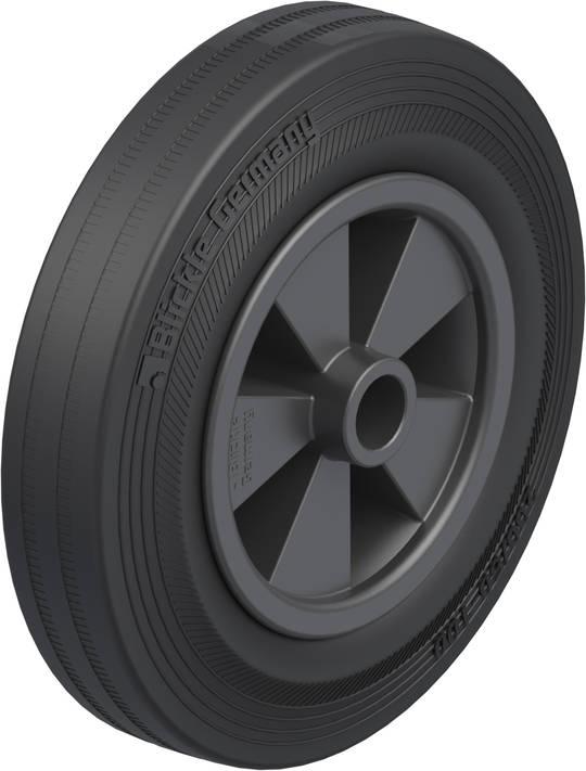 Black Rubber Wheel 200mm - SRK200