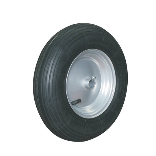 Pneumatic Wheel - Steel Rim - 400x6 Ribbed - WB150-400R