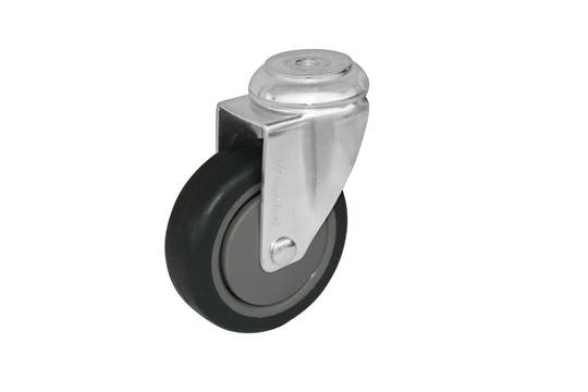 Swivel 75mm Rubber Castor - WCR75/H