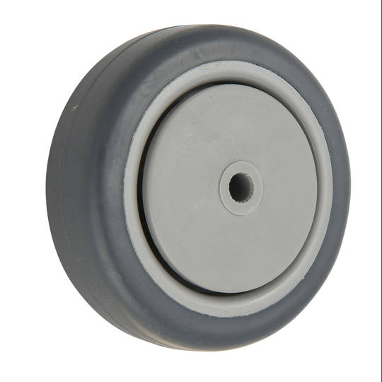 Grey Rubber Wheel 125mm - WCR125