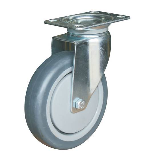 Swivel 125mm Rubber Castor - WCR125/P