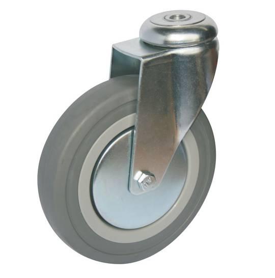 Swivel 150mm Rubber Castor - WCR150/H