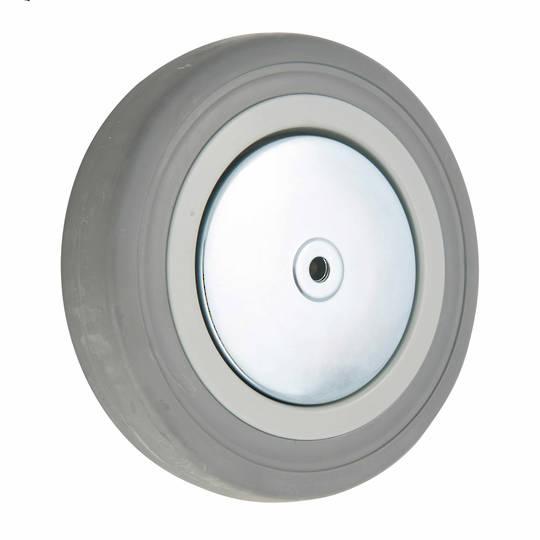 Grey Rubber Wheel 150mm - WCR150