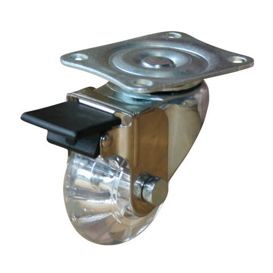 Swivel & Brake 50mm Urethane Castor - WLPU50/P-B