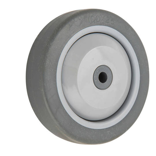 Grey Rubber Wheel 100mm - WLR100