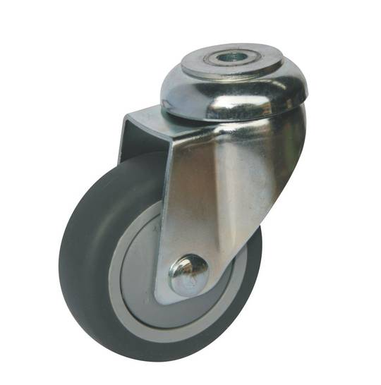 Swivel 75mm Rubber Castor - WLR75/H