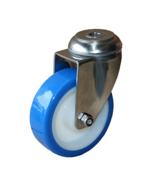 Swivel 100mm Urethane Castor - Stainless Steel - WSU100/SH
