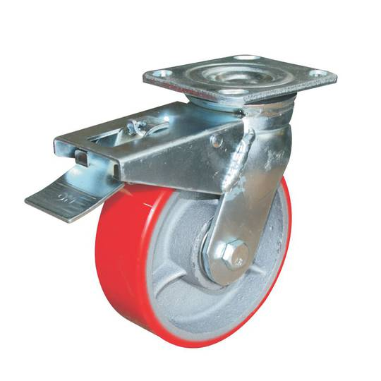 Swivel & Total Brake 150mm Urethane Castor - WXU150/P-TB