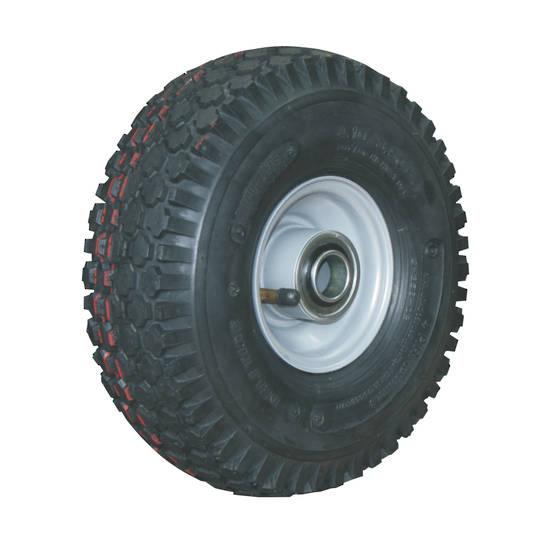 Pneumatic Wheels - Steel Rims - Low Speed Bearings - Four Inch Rims