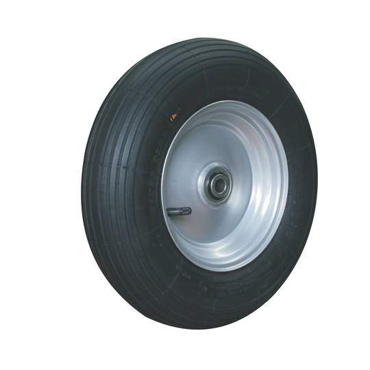Pneumatic Wheels - Steel Rims - Low Speed Bearings - Eight Inch Rims