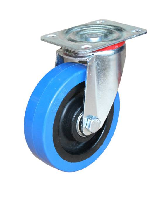 Medium Industrial Castors - Plate Fitting - 125mm Wheel