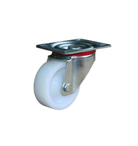Medium Industrial Castors - Plate Fitting - 80mm Wheel
