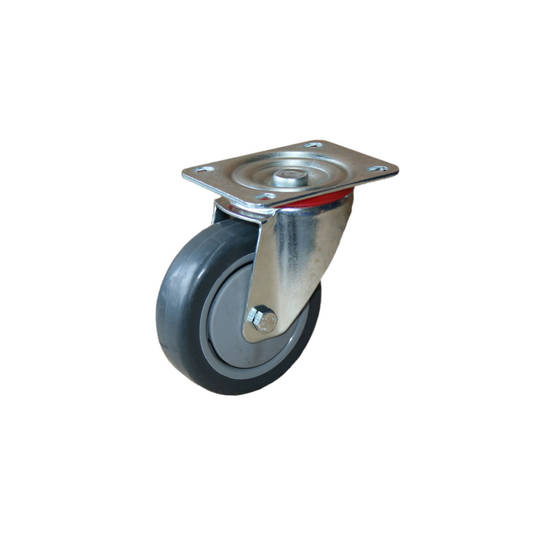 Medium Industrial Castors - Plate Fitting - 100mm Wheel
