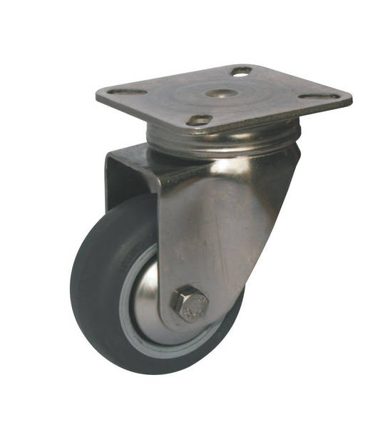 Stainless Steel Castors - Plate Fitting - up to 80mm Wheel