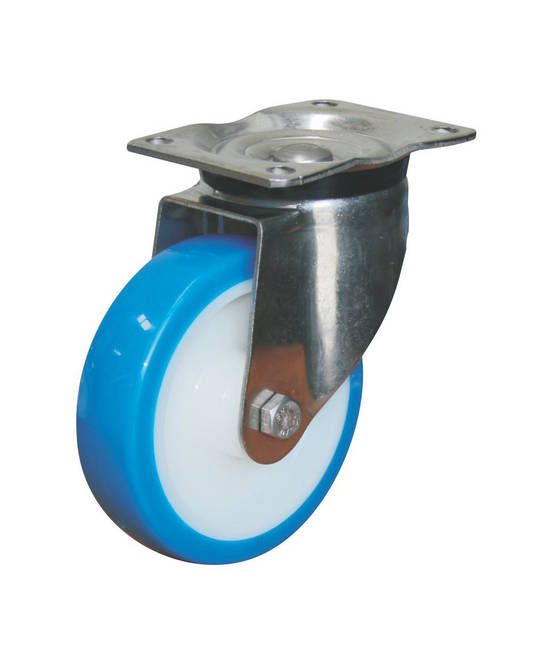 Heavy Duty Stainless Steel Castors - Plate Fitting