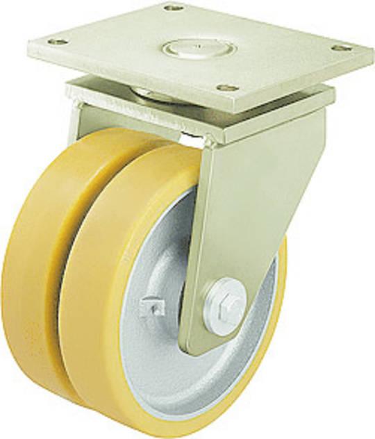 Extra Heavy Duty Castors - Plate Fitting Twin Wheel