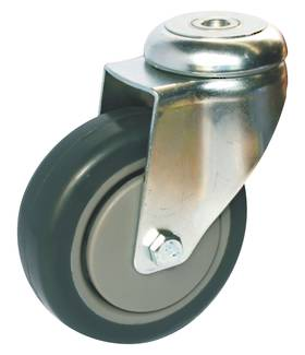 Medium Institutional Castors - Bolt Hole Fitting