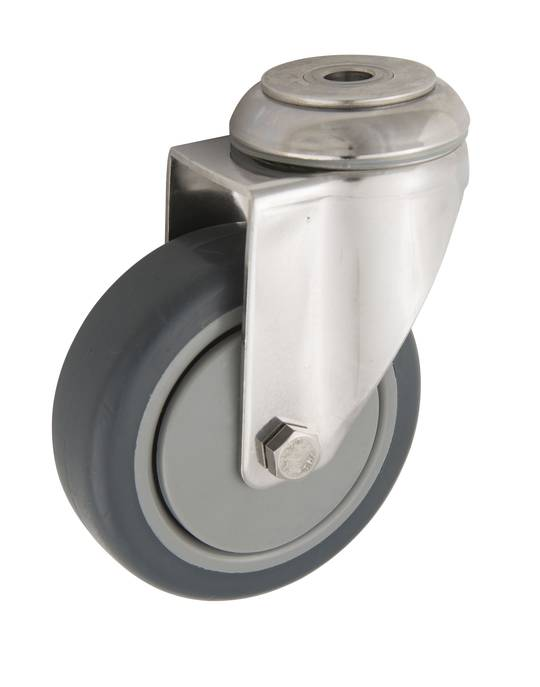 Stainless Steel Castors - Bolt Hole