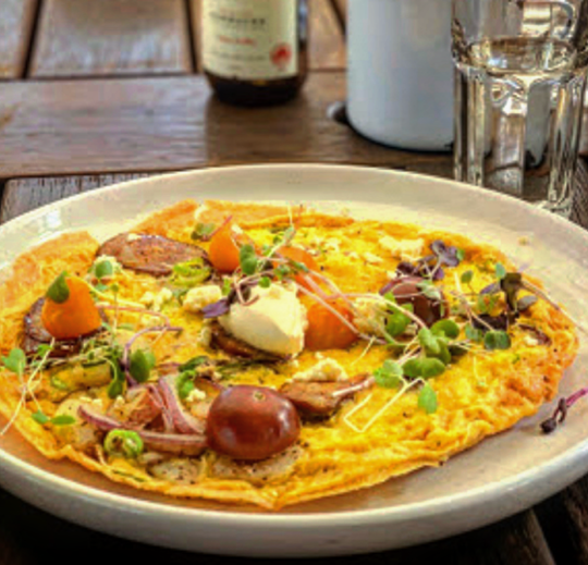 Spanish Omelette with Salmon