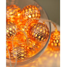 Copper Tone 'Moroccan Balls' Fairy Lights