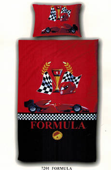 Formula Car Single Duvet Cover Set