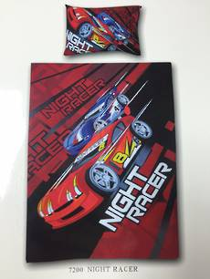 Night Racer Single Duvet Cover Set